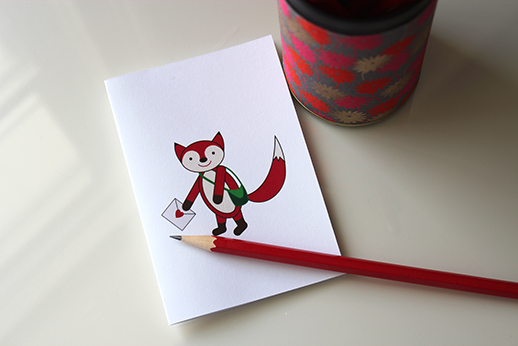 Woodland Fox Card