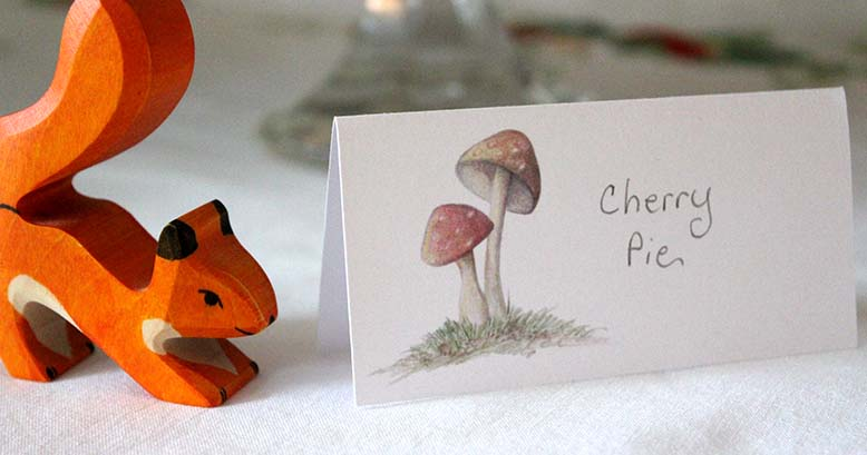 Mushroom Table Cards