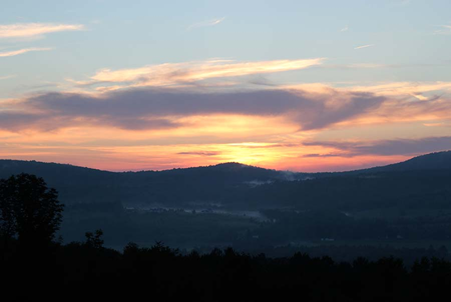 One of the many beautiful sunsets at Hummingbird Hill
