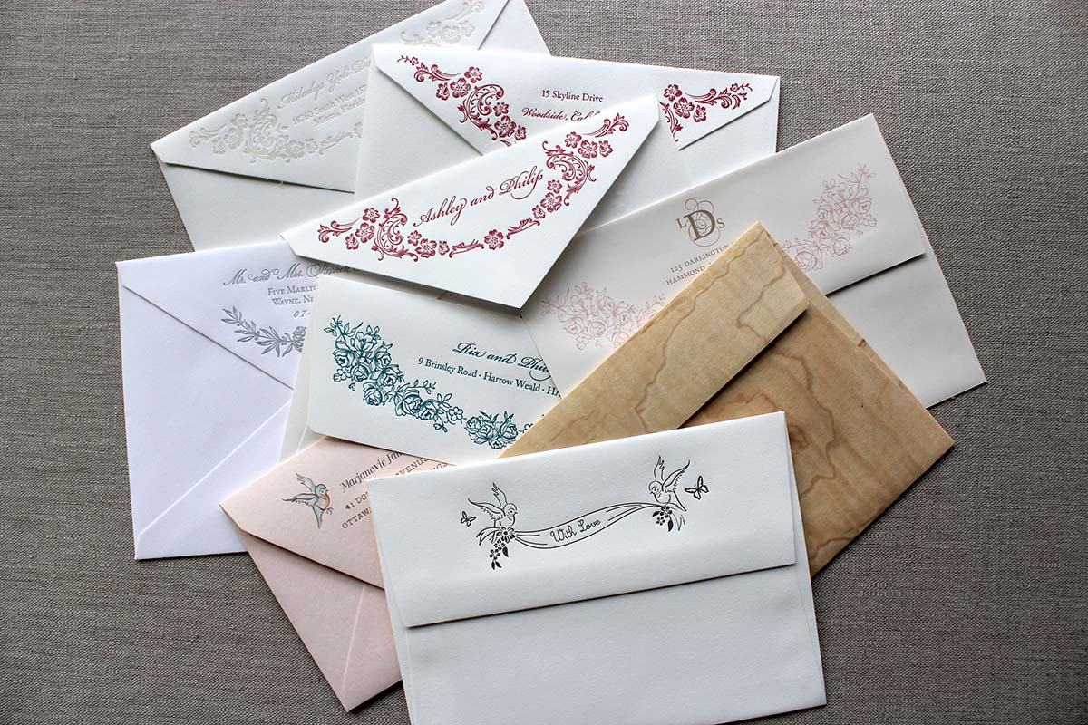 Addressing Envelopeslittle dove design