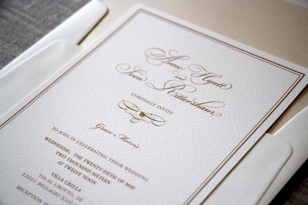 Detail of Anne and Sven's invitation.